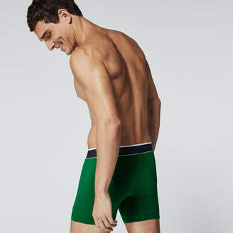 Lacoste Men's 3 Pack Signature Print Cotton Stretch Boxer Brief