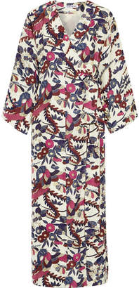 Elizabeth and James - Howe Floral-print Silk Maxi Dress - Ivory $695 thestylecure.com