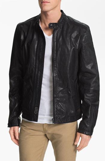 Diesel 'Lagnum' Leather Racing Jacket