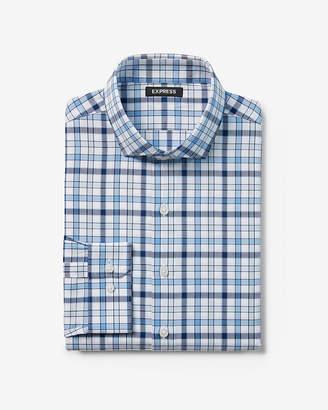 Express Classic Plaid Dress Shirt