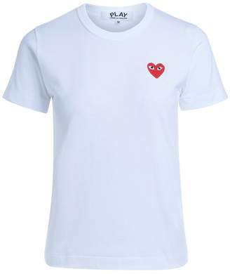 Comme des Garcons White T-shirt With Red Heart