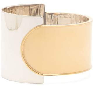 Bottega Veneta Gold Plated Silver Cuff - Womens - Silver