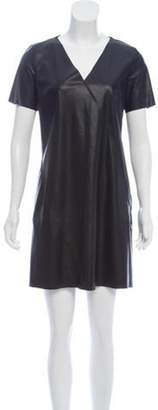 Calvin Klein Collection Faux Leather Shift Dress Black Faux Leather Shift Dress