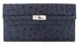 Hermes Ostrich Kelly Longue Wallet