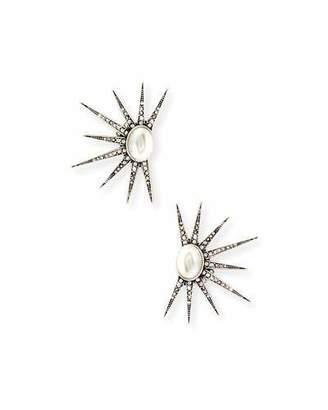 Lulu Frost Zenith Crystal Clip-On Earrings $225 thestylecure.com