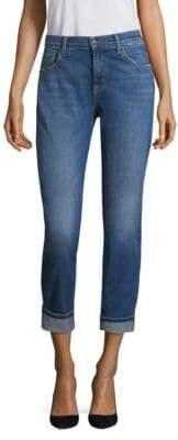 J Brand Johnny Mid-Rise Medium Wash Boyfriend Jeans