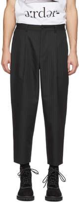 Comme des Garcons Homme Deux Homme Deux Black Striped Trousers