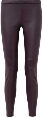 MICHAEL Michael Kors Leather Leggings - Purple
