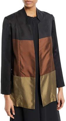 Zero Maria Cornejo Ellie Colorblock Long-Sleeve Jacket