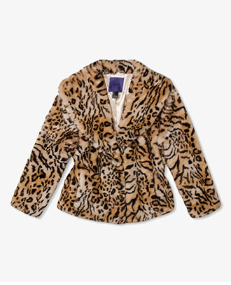 Forever 21 Cropped Animal Print Coat