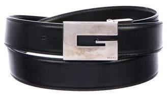 Gucci G Logo Skinny Leather Belt