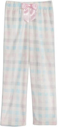 Max & Olivia Big Girls Plaid-Print Pajama Pants