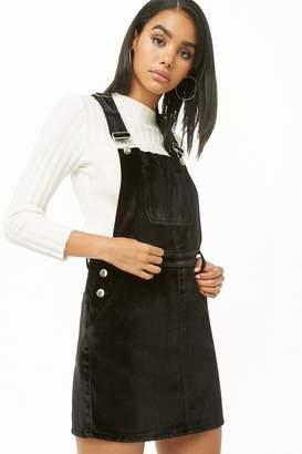 Forever 21 Smooth Velvet Overall Dress
