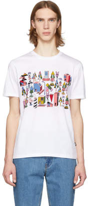 BOSS White Jeremyville Edition Graphic T-Shirt