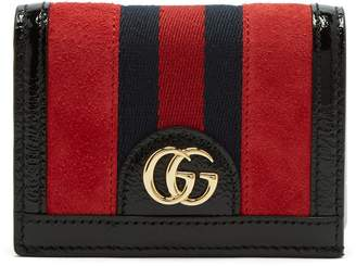 Gucci Ophidia suede square wallet