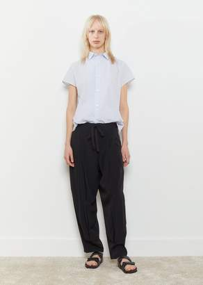 Y's Chine Front Two Tuck Pant Black
