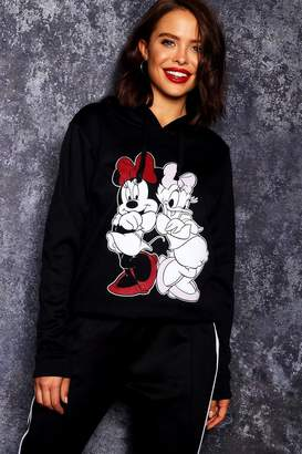 boohoo Disney Minnie & Daisy Print Hoody