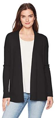 Ellen Tracy Women's Long Sleeve Button Front Cardigan