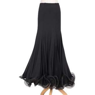 b10da82db781 YOUMU Women Waltz Skirt Latin Salsa Flamenco Modern Ballroom Dance Tango  Dress