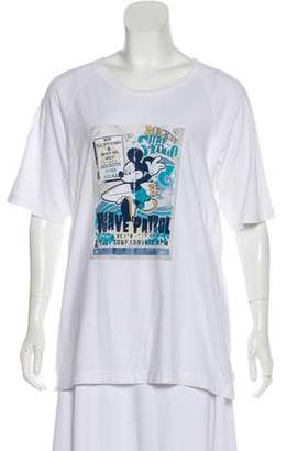 Dolce & Gabbana Mickey Mouse Short Sleeve Graphic T-Shirt