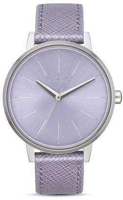 Nixon Kensington Lilac Purple Leather Watch, 37mm