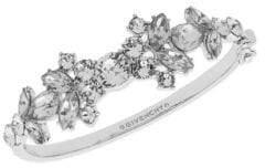 Givenchy Crystal and Silvertone Hinge Bangle