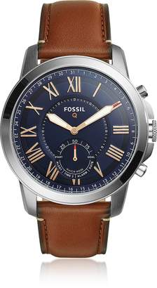 Fossil Q Grant Light Brown Leather Men's Hybrid Smartwatch