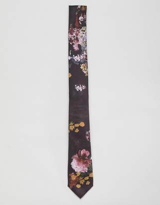 Twisted Tailor tie with geometric floral print