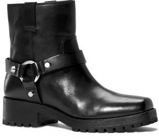 Michael Kors Macey Leather Motorcycle Boot