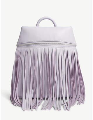 Skinnydip Purple Tasselled Faux Leather Backpack