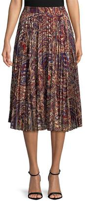 Haute Hippie Paisley Midi Skirt