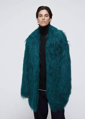 MM6 MAISON MARGIELA Faux Fur Overcoat