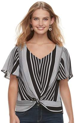 Love, Fire Love Fire Juniors' Twist Front Top
