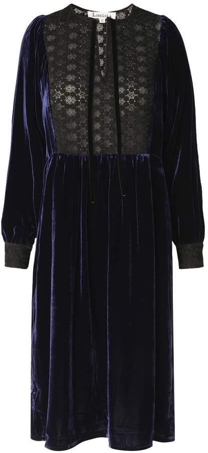 Lula Dress Navy Velvet