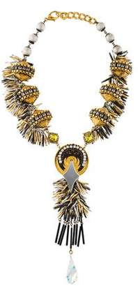 Erickson Beamon Crystal, Acrylic & Crystal Collar Necklace