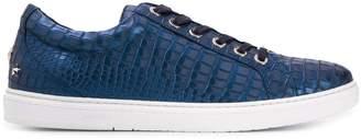 Jimmy Choo Cash lizard effect metallic sneakers
