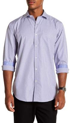 Bugatchi Striped Long Sleeve Classic Fit Shirt