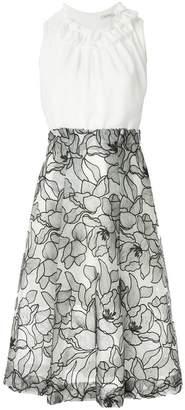 Three floor floral print dress