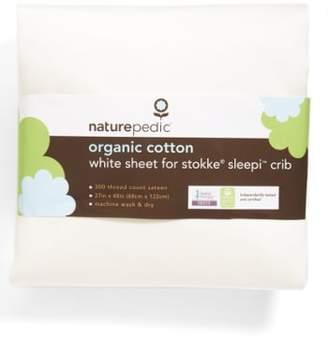 Naturepedic 300 Thread Count Organic Cotton Oval Crib Sheet for Stokke Sleepi Crib