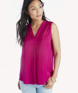 Sole Society V-Neck Rumple Blouse
