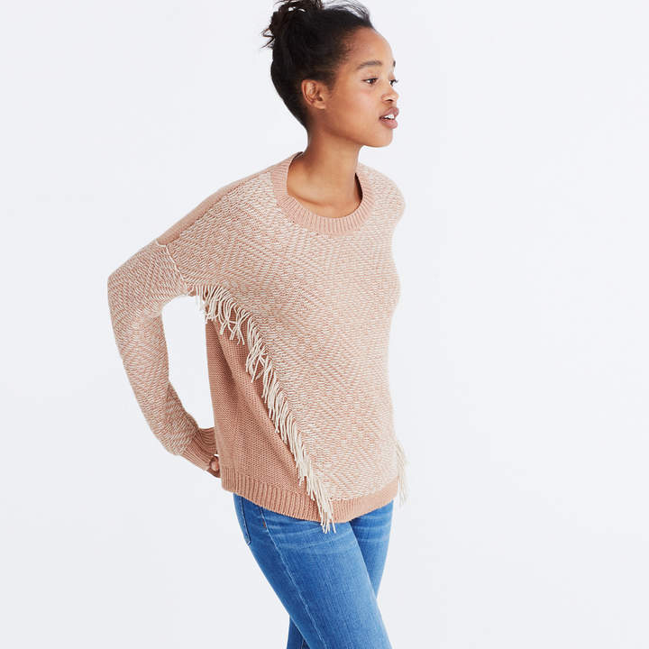 Reverse-Diamond Pullover Sweater