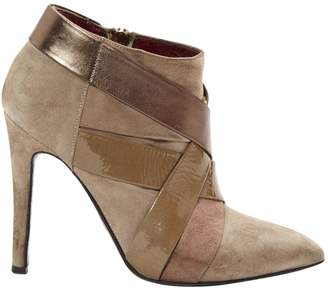 Patrizia Pepe Beige Suede Ankle boots