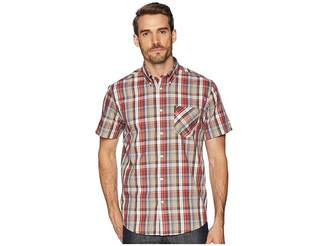 Ben Sherman Short Sleeve Madras Plaid Shirt Men's Clothing
