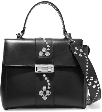 Lanvin - Jiji Small Studded Leather Shoulder Bag - Black $2,990 thestylecure.com
