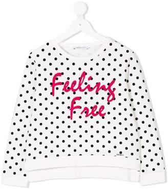 Liu Jo Kids slogan print sweatshirt