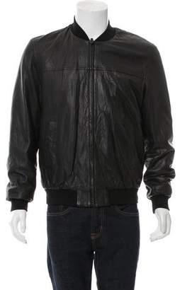 TSE Leather Bomber Jacket