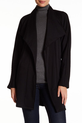 Bobeau Tie Front Fleece Trench Coat $98 thestylecure.com