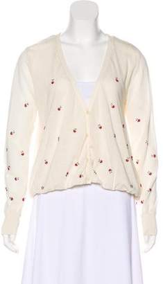 Band Of Outsiders Beaded Button-Up Cardigan