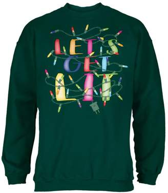 Old Glory Christmas Lights Let's Get Lit Party Mens Sweatshirt Forest LG