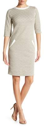 AERIN Diamond Pattern Pocket Dress